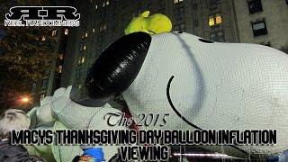 Download Macy's Thanksgiving Day Parade Balloon Inflation Viewing 2015 Video
