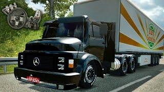 Download Euro Truck Simulator 2 - Mercedes Benz 1113 - Ronco louco! - Quebrada de asa! - Com Logitech G27 Video