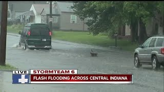 Download Flash flooding across Central Indiana Friday Video