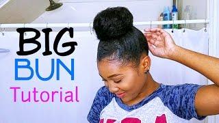 Download Big BUN Tutorial Using Clip Ins! (FOR SHORT HAIR) Video
