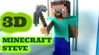 Download 3D Perler Bead Minecraft Steve Figure (FULL TUTORIAL) Video