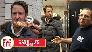 Download Barstool Pizza Review - Santillo's (Elizabeth,NJ) Bonus Old School Italian Pizza Maker Video