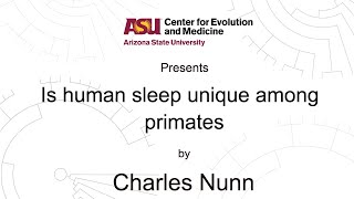 Download Is human sleep unique among primates? | Charles Nunn | CEM Video