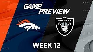Download Denver Broncos vs. Oakland Raiders   NFL Week 12 Game Preview   Move the Sticks Video