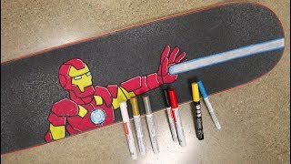 Download Iron Man Skateboard Griptape Art Time Lapse! Video