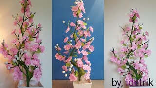 Download Cara Membuat Bunga Plastik kresek | Beautiful flower craft from crackle plastic Video