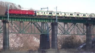 Download 東北本線 黒川橋りょう EF81-140牽引E231系U14編成 KY入場通過 2018.02.09 Video