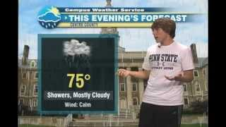 Download Penn State Campus Weather Service Forecast - Justin McCoy - 10/3/12 Video