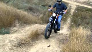 Download Yamaha tricker xg 250 cc . Motorbike trial and trail. Slow ride in Miranda de Ebro , Burgos, Spain Video