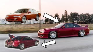 Download BUILDING and WRECKING my S14 240SX in 10 Minutes! *AMAZING TRANSFORMATION* Video
