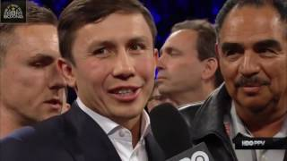 Download ITS ON - Gennady Golovkin enters the ring after Canelo Alvarez's win to ANNOUNCE THE BIG ONE Video