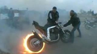 Download Motorrad Burnout Fireburnout Amazing Video