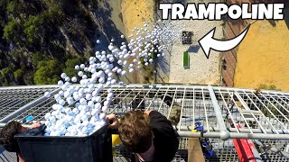 Download 1700 GOLF BALLS VS. TRAMPOLINE from 45m! Video