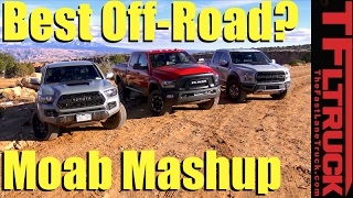 Download 2017 Ford Raptor v. Toyota Tacoma TRD Pro v. Ram Power Wagon: Which is Best Off-Road? Video