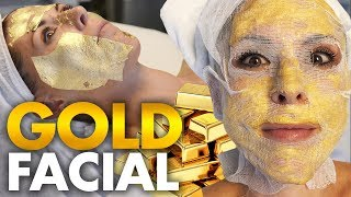 Download Trying the 24k Gold Korean Facial?! Video