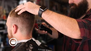 Download Barber Works Magic on a High Hairline & Patchy Beard | The Dapper Den Barbershop Video