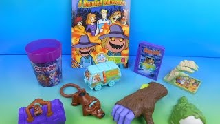Download 2014 SCOOBY DOO A HAUNTED HALLOWEEN SET OF 8 McDONALD'S HAPPY MEAL KID'S TOY'S VIDEO REVIEW Video