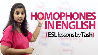 Download Homophones in English. - Free spoken English and English Grammar lessons. Video