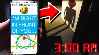 Download BALDI APPEARED IN REAL LIFE AT 3:00AM! **I SAW HIM!** Video