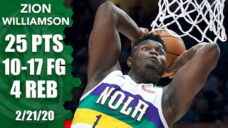 Download Zion Williamson's tear continues with 25 points in Pelicans vs. Blazers | 2019-20 NBA Highlights Video