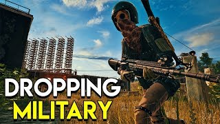 Download Dropping Military Base - PlayerUnknown's Battlegrounds (PUBG) Video