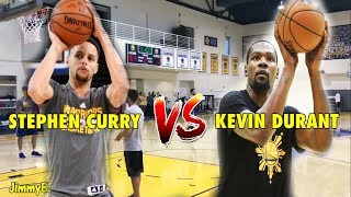 Download Stephen Curry vs. Kevin Durant in a 3-Point Shootout during practice Video