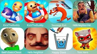 Download Kick The Buddy, SpongeBob's Game Frenzy,Baldi's Basics,Sausage,HappyGlass,Hello Neighbor,Hide & Seek Video