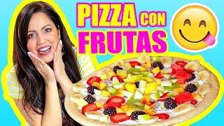 Download SERÁ RICO? PIZZA CON FRUTAS! COOKING con SandraCiresArt Video