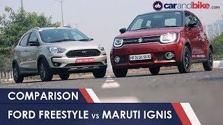 Download Ford Freestyle VS Maruti Suzuki Ignis: Cross Hatchback Comparison Review | NDTV CarAndBike Video