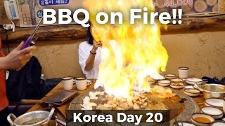 Download WOW! Flaming Pork Belly on a Hot Stone! (Day 20) Video