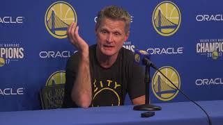 Download Steve Kerr sees both sides of Jordan Bell dunk debate Video