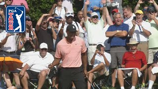 Download Tiger Woods buries 28-footer for eagle at TOUR Championship 2018 Video