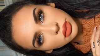 Download GRWM: MATTE ORANGE Fall Makeup | Carli Bybel Video