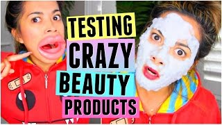 Download TESTING WEIRD & CRAZY BEAUTY PRODUCTS! Video