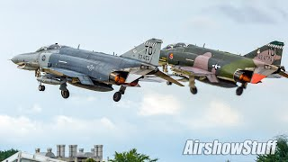 Download Two-Ship F-4 Phantom Takeoff and Flybys - EAA AirVenture Oshkosh 2016 Video