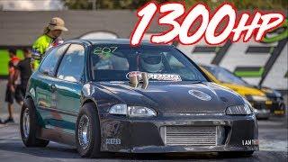 Download 1300HP AWD Honda Breaks 7's! - Frustrate EG Civic Video