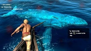 Download Assassin's Creed 4 All Harpooning Activities & The White Whale ( Moby Dick ) Video