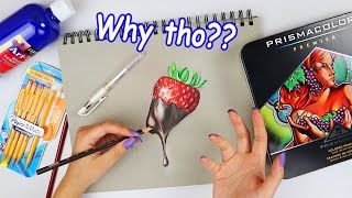 Download Just the worst...DRAWING USING ONLY THE SUPPLIES I HATE! Video