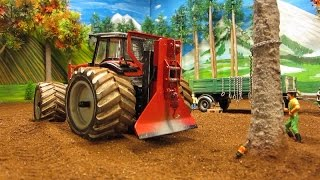 Download RC TRACTORS vs. a STRONG TREE - farm toys in action Video