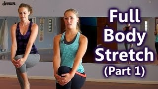 Download Full Body Stretches, How to Stretch for Beginners, Part 1: Upper Body, Home Workout Follow Along Video