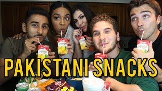 Download TRYING PAKISTANI SNACKS FOR THE FIRST TIME ft. REACT CAST Video