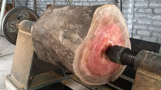 Download Amazing Techniques Extreme Fast Woodworking Creative Smart - Work Wooden Lathe Art Video