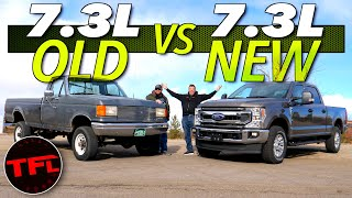 Download What's Your Favorite Ford 7.3L Truck? We Compare One of The Oldest 7.3L Ford Trucks to The Newest! Video