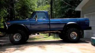 Download my big 78 ford f-250 4x4 project, 460 flowmasters. mud truck Video