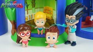 Download PJ MASKS Em Português Romeu Transformando os Heróis de Pijama em Bebês Brinquedos Pj Masks Video