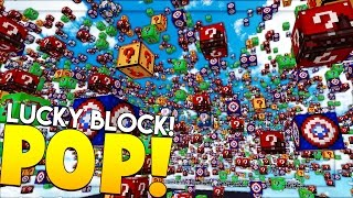 Download HILARIOUS MINECRAFT LUCKY BLOCK POP MOD CHALLENGE - MODDED MINIGAME Video