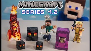 Download Minecraft Action Figures Series 4.2 Jazwares Toys NEW Unboxing Overworld Survival Mode Biome Playset Video