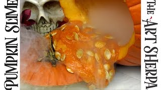 Download How to make Pumpkin Guts Glitter Slime without Borax Video