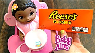 Download Baby Alive Super Snackin' Lily Doll eats Reese's Pieces Candy for a Snack! Video