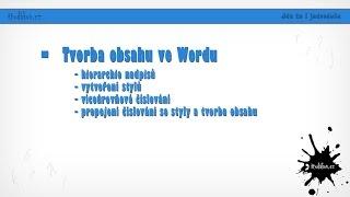 Download Tvorba obsahu ve wordu Video